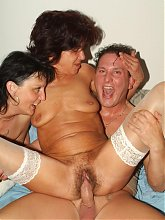 Marsha and Agnes took turns in jumping on top of a cock and cramming it deep into their ripe slits