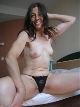 Mature Mercedes loves to play with her toys