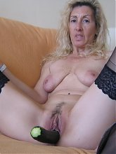 This hot mature slut loves her daily vegetables