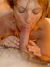 This granny gets loads of cocks to process