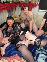 Kinky mature amateur in hot groupsex