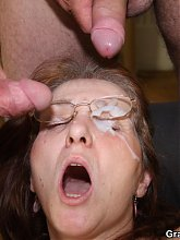 A young guy and an older guy want this mature and she lets them both at her body