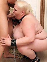 Pamela submits herself to a younger guy then takes his dick inside her mature snatch