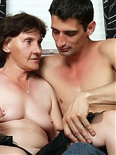 Wrinkled granny Stephanie bares her clothes to give this lucky dudes cock a ride on webcam